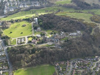 Oblique aerial view of Craighouse University Hospital, taken from the N.