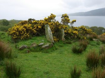 Glenvoidean chambered cairn. View from NW.