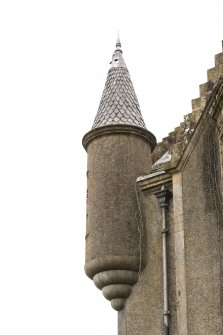Detail of turret at N corner.