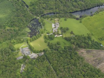 General oblique aerial view of Kinmount House and policies, taken from the W.
