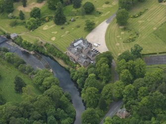 Oblique aerial view of Sorn Castle, taken from the ENE.
