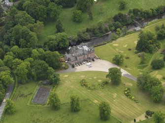 Oblique aerial view of Sorn Castle, taken from the NNW.