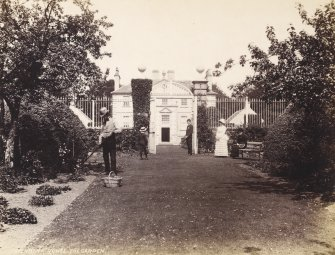 View of Greenbank House and garden from south west