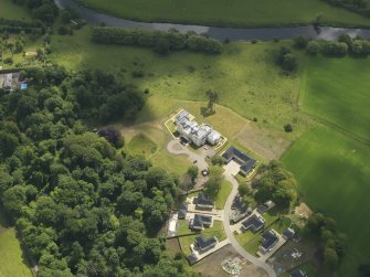 Oblique aerial view of Craig House, taken from the NW.