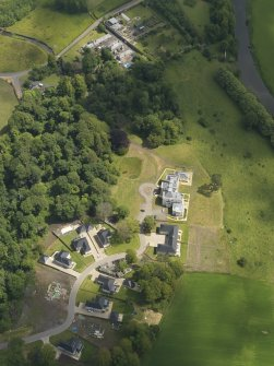 Oblique aerial view of Craig House and policies, taken from the SW.
