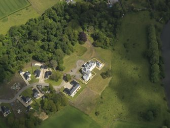 Oblique aerial view of Craig House, taken from the SSW.