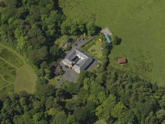 Oblique aerial view of Montgreenan stables, taken from the E.