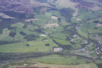 General oblique aerial view centred on Blair Castle and its policies, taken from the SW.