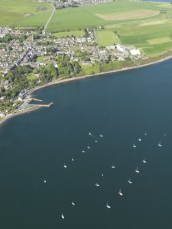 General oblique aerial view of Fortrose, taken from the S.