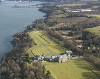 General oblique aerial view of the estate centred on Hopetoun House, taken from the NW.