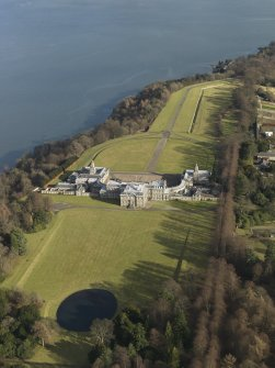 General oblique aerial view of the estate centred on Hopetoun House, taken from the SW.