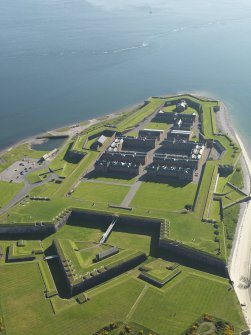 Oblique aerial view of Fort George, taken from the NNE.