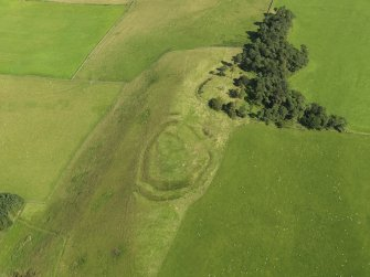 Oblique aerial view of Henderland Hill fort, taken from the SW.