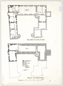 Plan of upper floors.