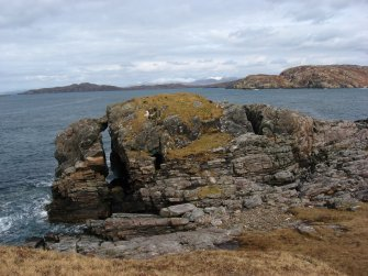 View of outcrop on which the Dun remains can be found, An Dun, Clashnessie