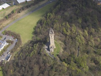 Oblique aerial view of the Wallace Monument, taken from the W.