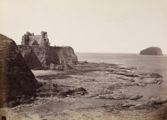 PAGE 33/3View of Tantallon Castle and the Bass Rock. Titled 'Tantallon Castle and the Bass.' PHOTOGRAPH ALBUM No.146; THE THOMAS ANNAN ALBUM