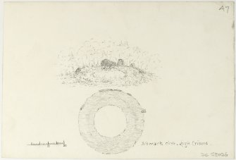 Drawing of Newark circle-Logie Crimond.