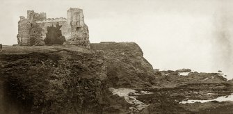View of Tantallon Castle Titled: Tantallon Castle and Bass Rock, North Berwick. November 1905'.  PHOTOGRAPH ALBUM No.30: OLD EDINBURGH ALBUM