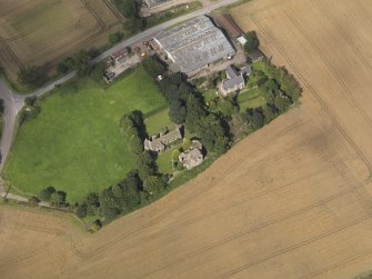Oblique aerial view of the castle taken from the SW.
