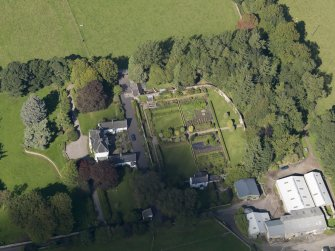 General oblique aerial view of the Pitscandly Estate, centred on Pitscandly House, taken from the SSE.