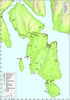 Map - Distribution of Early Bronze Age sites and artefacts.