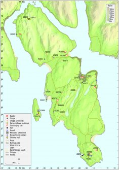 Map - Distribution of Early Historic and Medieval sites and artefacts.