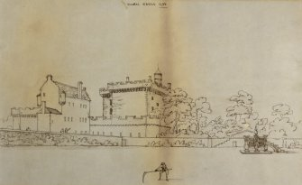 Drawing of 17th century house, since demolished, as seen from North.