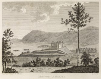 Copy of engraving of Kenmure Castle titled 'Kenmure Castle Pl.2. published by J. Hooper, June 12, 1790'