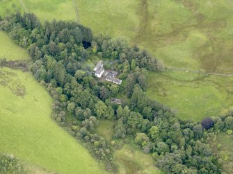 Oblique aerial view of Grennan Mill, taken from the NE.