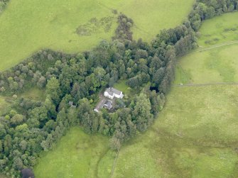 Oblique aerial view of Grennan Mill, taken from the NW.