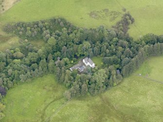 Oblique aerial view of Grennan Mill, taken from the W.