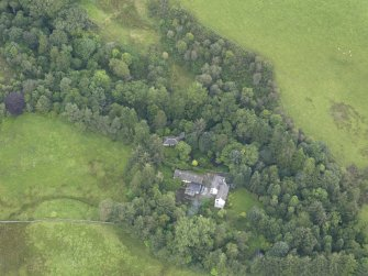 Oblique aerial view of Grennan Mill, taken from the SW.
