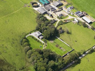 Oblique aerial view of Borgue House, taken from the NE.