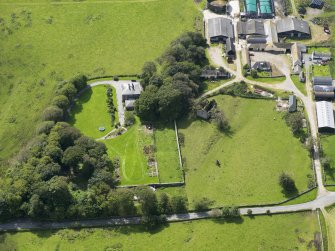 Oblique aerial view of Borgue House, taken from the NNE.