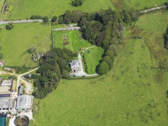 Oblique aerial view of Borgue House, taken from the SW.