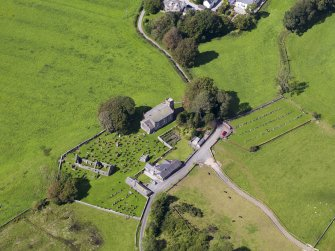Oblique aerial view of Buittle Parish Church, taken from the SSE.