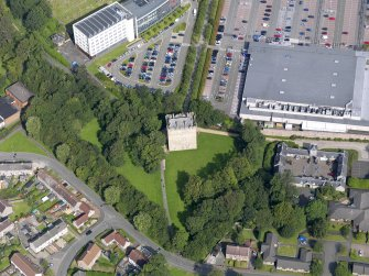 Oblique aerial view of Alloa Tower, taken from the SE.
