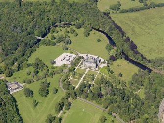 General oblique aerial view of Inveraray Castle and policies, taken from the SW.