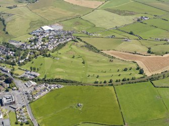 General oblique aerial view of Maybole Golf Course, taken from the WNW.
