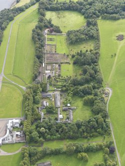Oblique aerial view of Hopetoun House Estate buildings, taken from the W.