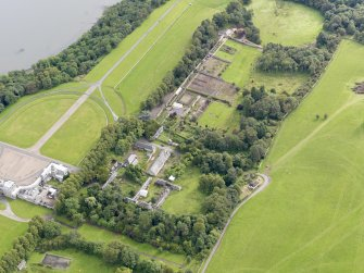Oblique aerial view of Hopetoun House Estate buildings, taken from the SW.