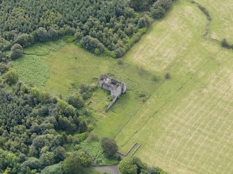 Oblique aerial view of Torwood Castle, taken from the NNW.