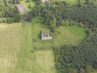 Oblique aerial view of Torwood Castle, taken from the SSW.
