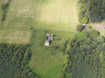 Oblique aerial view of Torwood Castle, taken from the ESE.