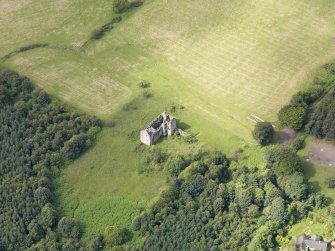 Oblique aerial view of Torwood Castle, taken from the ENE.