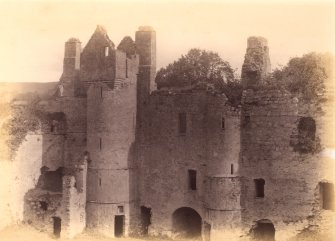 General view of Balvenie Castle Titled: 'Balvenie Cas. Innes Stronghold, Craigellachie.'