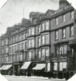 On page 2 Photograph of Balmoral Hotel frontage on Princes Street, between Hanover & Frederick Streets.