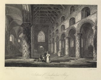 Interior of Dunfermline Abbey.  Fifeshire.