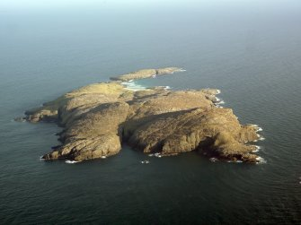 General oblique aerial view of Pabbay, taken from the W.